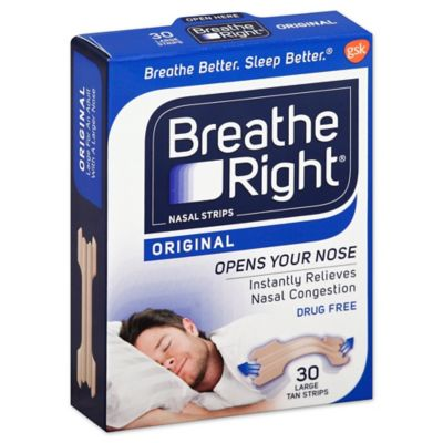Breathe Right 30-Count Original Tan Nasal Strips Medium/Large