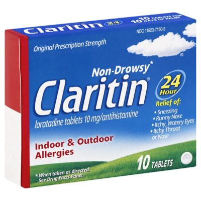 Claritin® 10-Count Non-Drowsy 24-Hour Allergy Relief Tablets