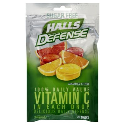 Halls Defense® 25-Count Sugar-Free Vitamin C Throat Drops in Assorted Citrus