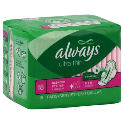 Always Ultra Thin 18-count Slender with Flexi-Wings Pads