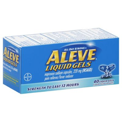Aleve® Liquid Gels 40-Count Pain Reliever/Fever Reducer Liquid Gels