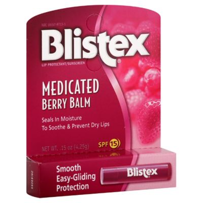 Blistex 0.15 oz. Medicated SPF 15 Lip Balm in Berry Flavor