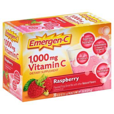 Emergen-C Dietary Supplement 30-Count Drink Mix Packets in Raspberry