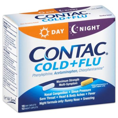 Contac® 28-Count Day/Night Cold + Flu Relief Caplets