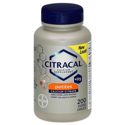 Citracal® Petites 200-Count Calcium Supplement Coated Tablets