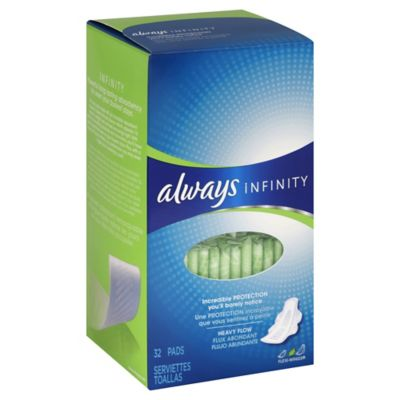 Always Infinity 32-Count Super Pads with Wings