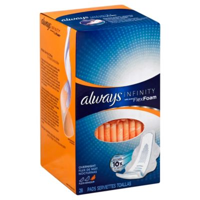 Always Infinity 28-Count Overnight Pads with Wings