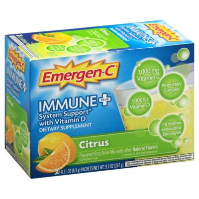 Emergen-C® Immunte +® System Support with Vitamin D 30-Count Vitamin C Packets in Citrus
