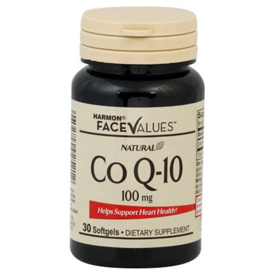 Harmon® Face Values™ 30-Count 100 Mg CoQ10 Softgels