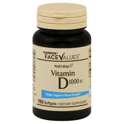Harmon® Face Values™ 100-Count Natural 1000 IU Vitamin D Softgels