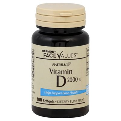 Harmon® Face Values™ 100-Count Natural 2000 IU Vitamin D Softgels