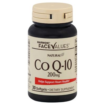 Harmon® Face Values™ 30-Count 200 mg Natural Co Q-10 Softgels
