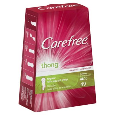 Carefree® Thong 49-Count Regular Unscented Pantiliners