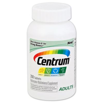 Centrum 200-Count Multivitamin/Multimineral Supplement Tablets