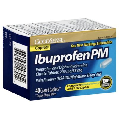 GoodSense Ibuprophen PM 200 Mg 40-Count Coated Caplets