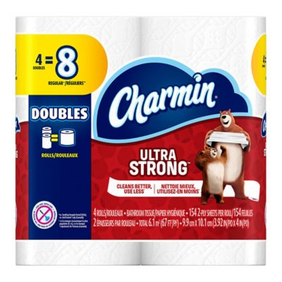 Charmin Ultra Strong® 4-Pack Double Roll Bathroom Tissue