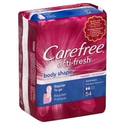 Carefree Body Style 54-Count Pantiliners To Go Unscented