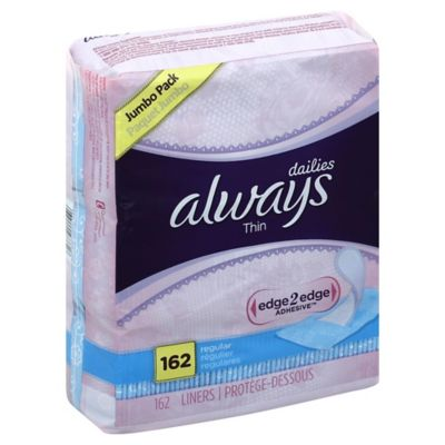 Always Liner Thin 162-Count Mince Regular
