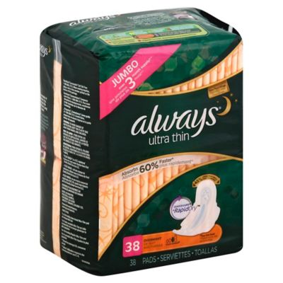 Always Maxi 38-Count Ultra Thin Overnight With Wings