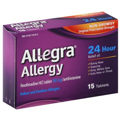 Allegra® Allergy 15-Count 24-Hour Antihistamine