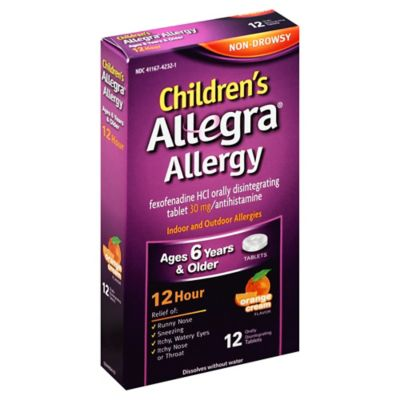 Children's Allegra® Allergy 12-Count Antihistamine Tablets in Orange Cream