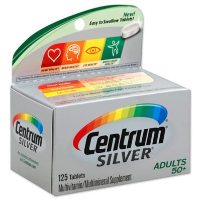 Centrum® Silver® 125-Count Multivitamin/Multimineral Supplement Tablets for Adults 50+