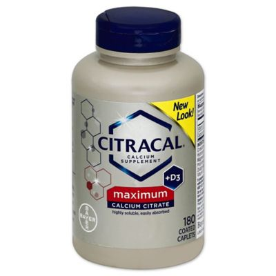 Citracal® Maximum 80-Count Calcium Supplement Coated Tablets