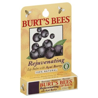 Burt's Bees Rejuvenating 0.15 oz. Lip Balm with Acai Berry