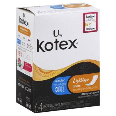 Kotex Lightdays 64-Count Unscented Pantiliners