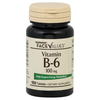 Harmon® Face Values™ 100-Count 100 mg Vitamin B-6 Tablets
