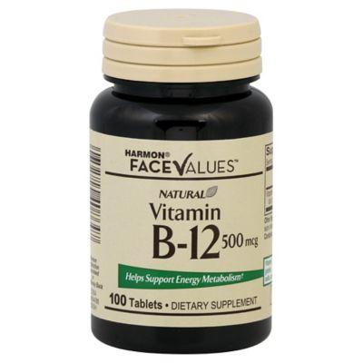 Natural Vitamin B-12 100-Count Tablets