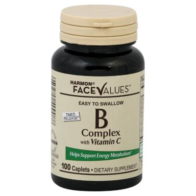 Harmon® Face Values™ 100-Count Time Release B-Complex with Vitamin C Caplets