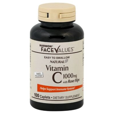 Harmon® Face Values™ 100-Count 1000 mg Natural Rose Hips Sustained Release Tablets