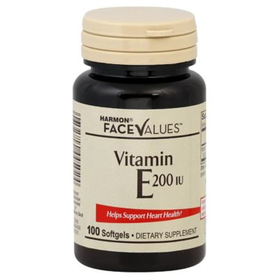 Harmon® Face Values™ 100-Count 200 IU Vitamin E Softgels