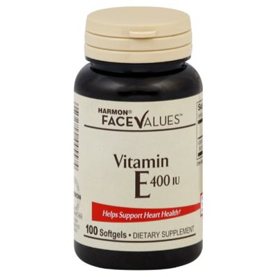 Harmon® Face Values™ 100-Count 400 IU Vitamin E Softgels