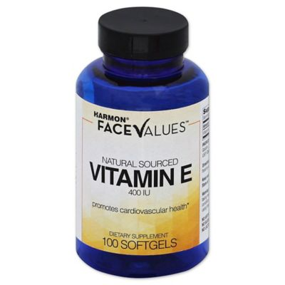 Harmon® Face Values™ 100-Count Blended 400 IU Vitamin E Softgels