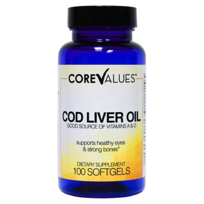 Harmon® Face Values™ Natural Cod Liver Oil 100-Count Softgels