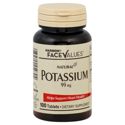 Harmon® Face Values™ 100-Count 99 mg Potassium Tablets