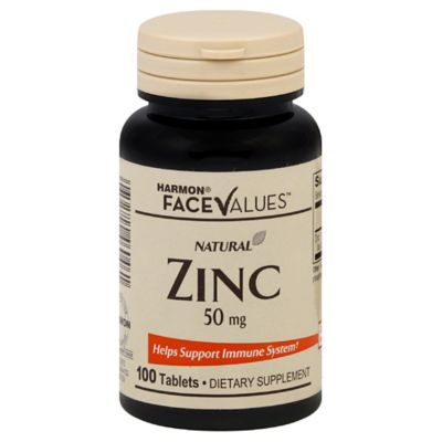 Harmon® Face Values™ Natural Zinc 100-Count 50 Mg Tablets