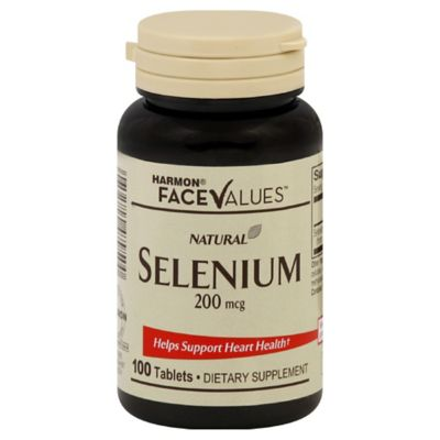 Harmon® Face Values™ 100-Count Natural 200 mg Selenium Tablets