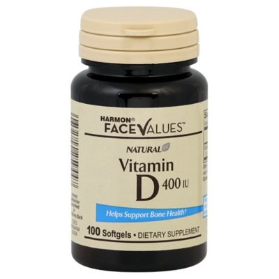 Harmon® Face Values™ 100-Count Natural 400 IU Vitamin D Softgels