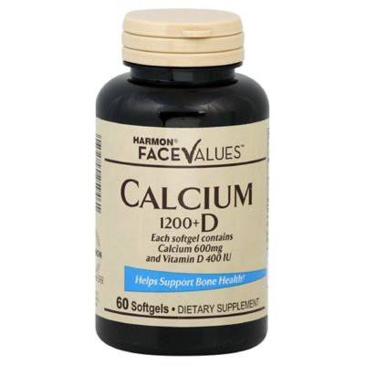 Harmon® Face Values™ 60-Count Calcium 1200 + D Softgels