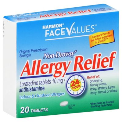 Harmon® Face Values™ 20-Count Non-Drowsy Allergy Relief Caplets