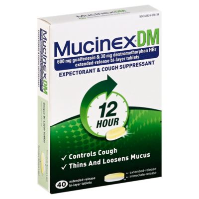 Mucinex DM 40-Count 600 mg Tablets
