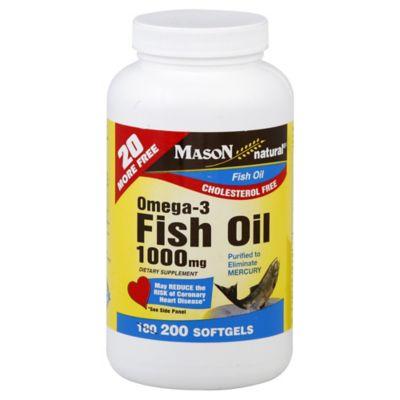 Mason Omega-3 200-Count 1000 mg Fish Oil Softgels