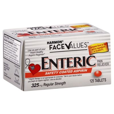 Harmon® Face Values™ 125-Count Enteric Safety Coated Aspirin Tablets