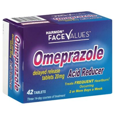 Harmon® Face Values™ 42-Count Omeprazole Tablets