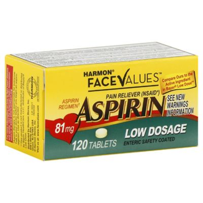 Harmon® Face Values™ 120-Count Low Dosage Aspirin Tablets