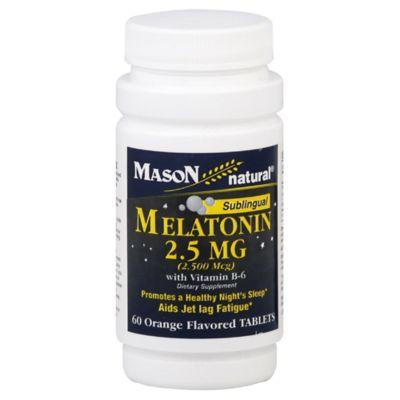Mason Natural® 60-Count Sublingual Melatonin Tablets with Vitamin B-6 in Orange