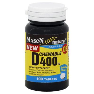 Mason Natural® 100-Count Chewable Vitamin D 400IU Tablets in Vanilla